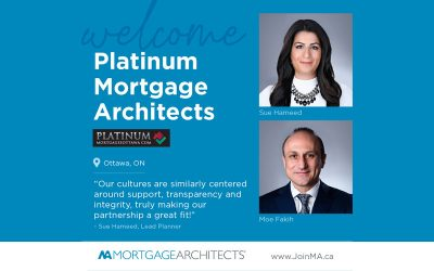 Platinum Mortgages Ottawa and their co-founders Sue Hameed and Moe Fakih have made the move to MA!