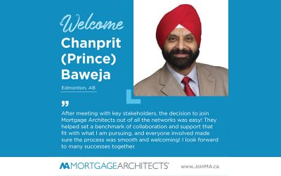 Chanprit (Prince) Baweja Joins the Mortgage Architects Broker Network