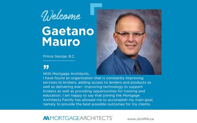 Gaetano Mauro Joins the Mortgage Architects Broker Network
