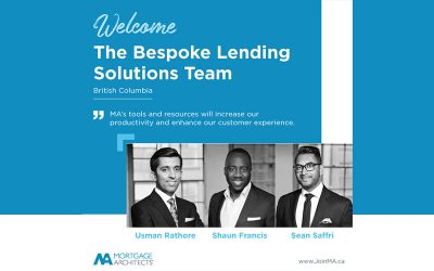 Bespoke Lending Solutions and their co-founders Sean Saffri, Usman Rathore, and Shaun Francis have made the move to MA!